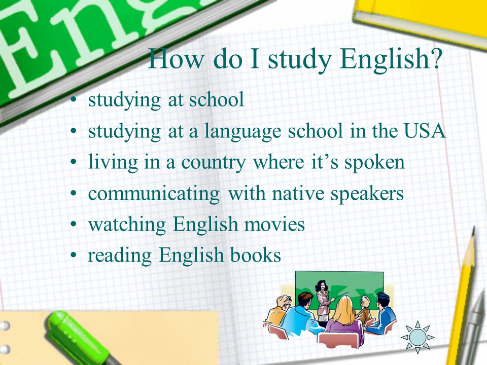 How do I study English studying at school