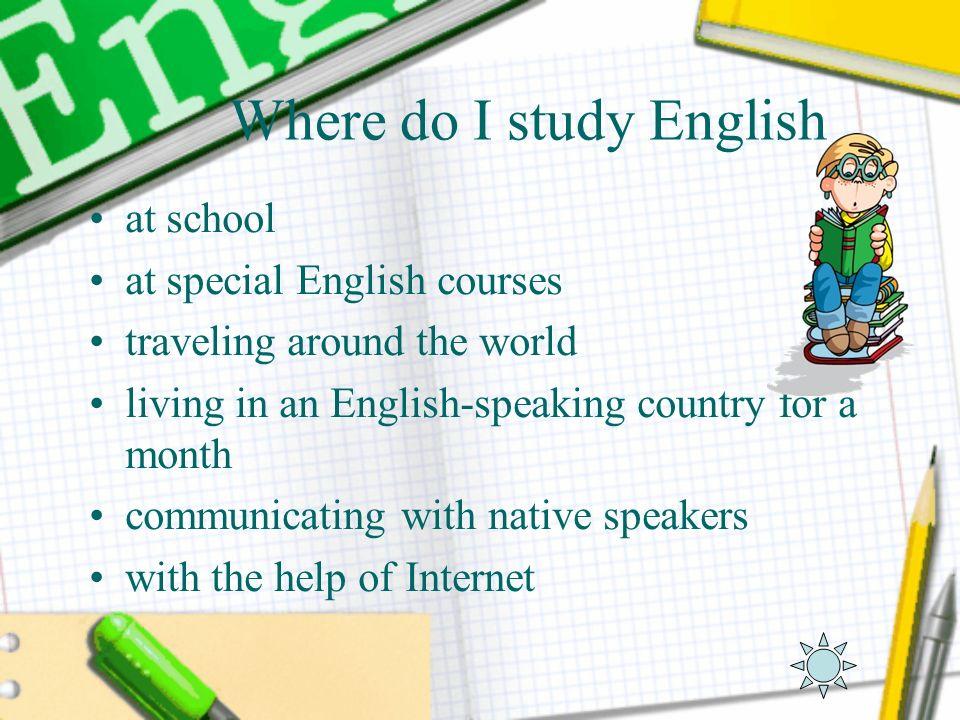 Where do I study English