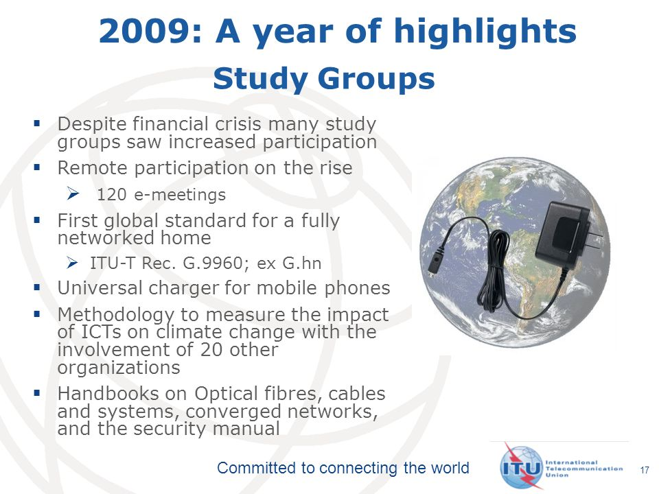 2009: A year of highlights Study Groups