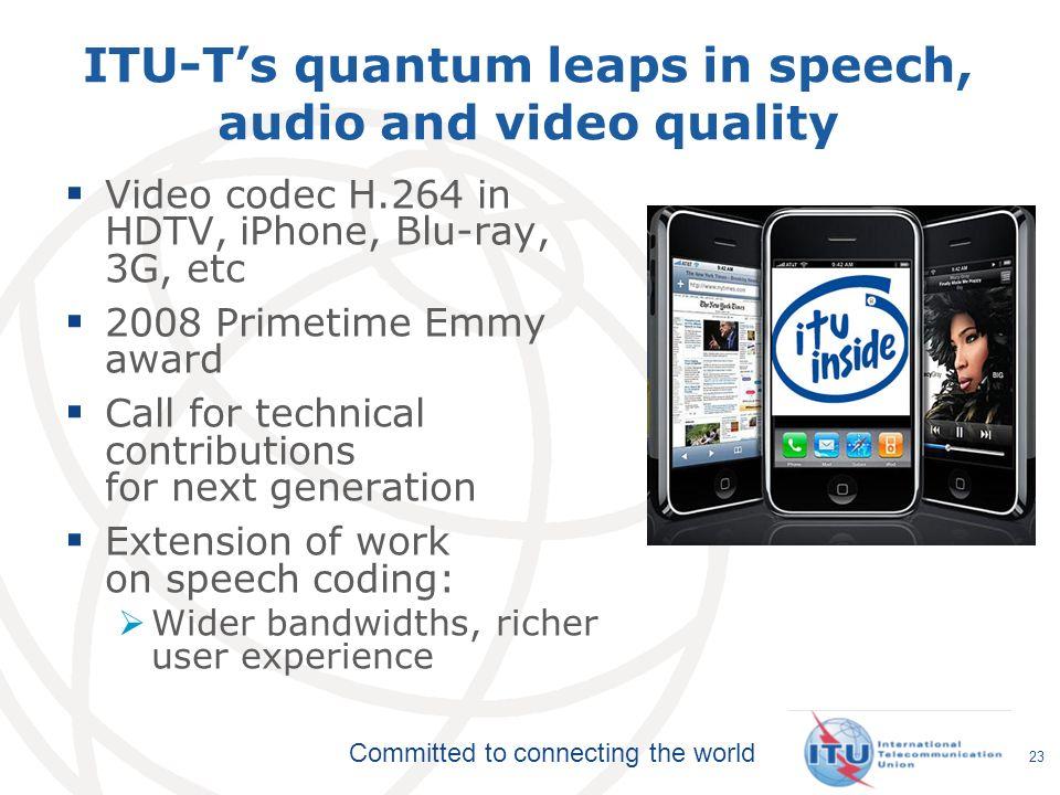 ITU-T's quantum leaps in speech, audio and video quality