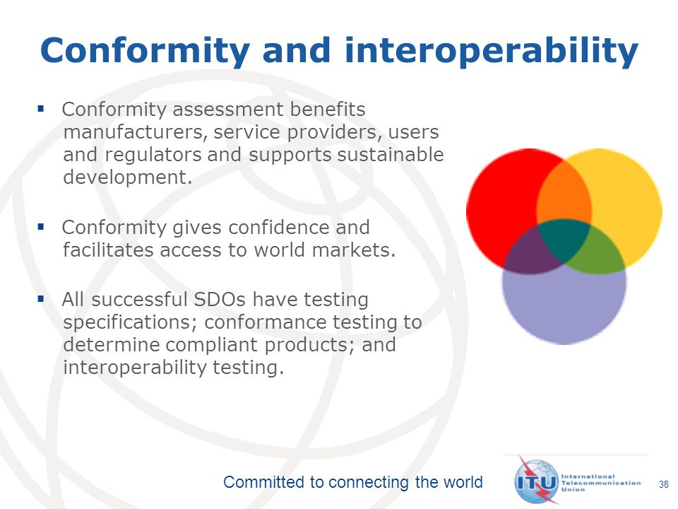 Conformity and interoperability