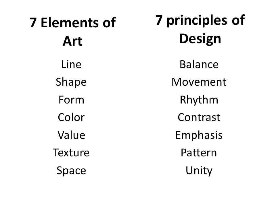 7 Principles Of Art : Elements of art and principles design ppt video