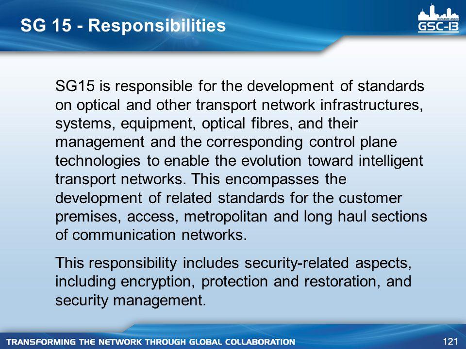 SG 15 - Responsibilities