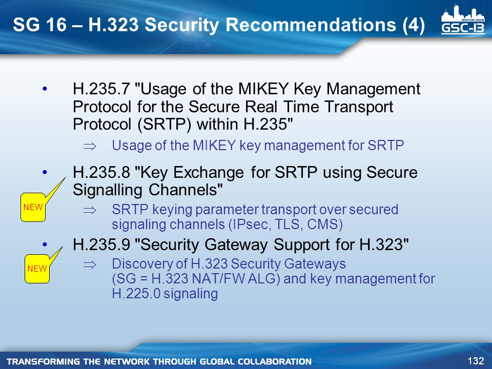 SG 16 – H.323 Security Recommendations (4)