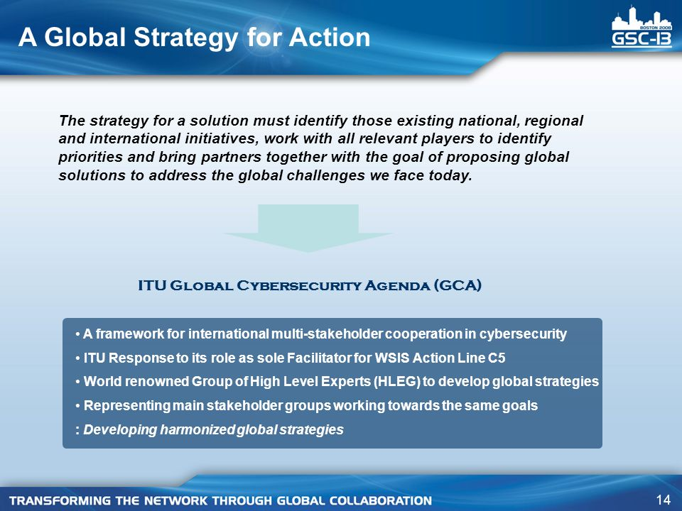 A Global Strategy for Action