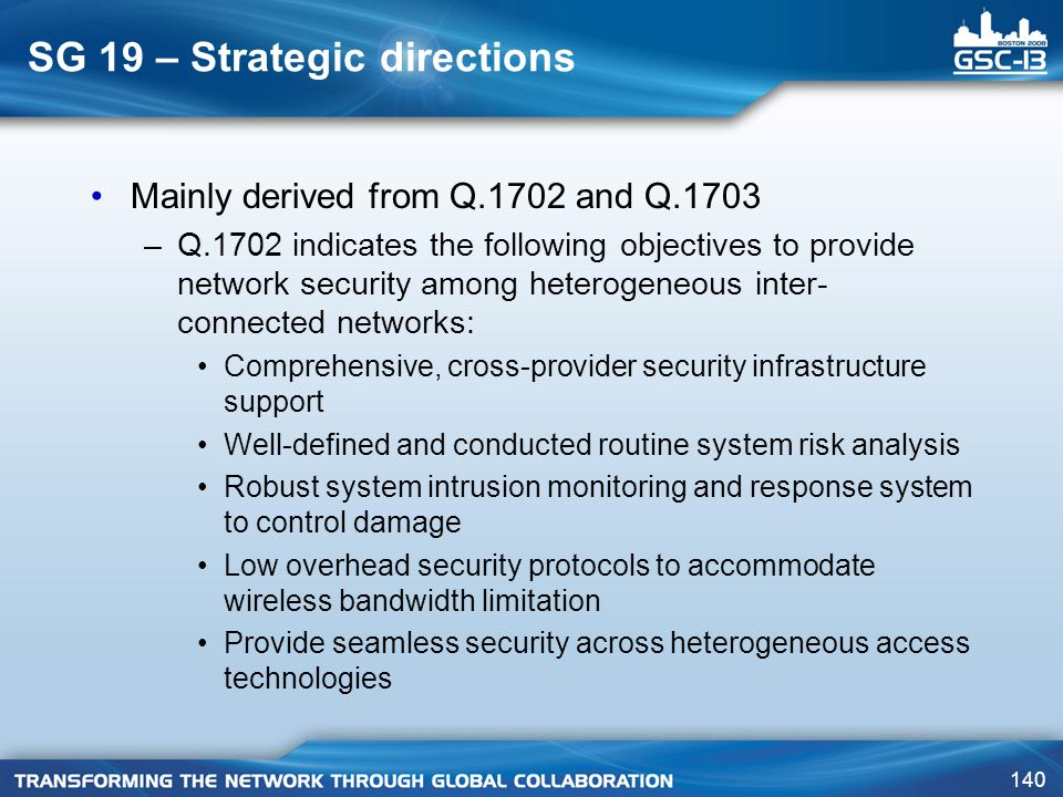 SG 19 – Strategic directions