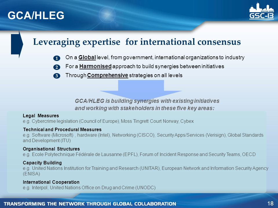 GCA/HLEG Leveraging expertise for international consensus