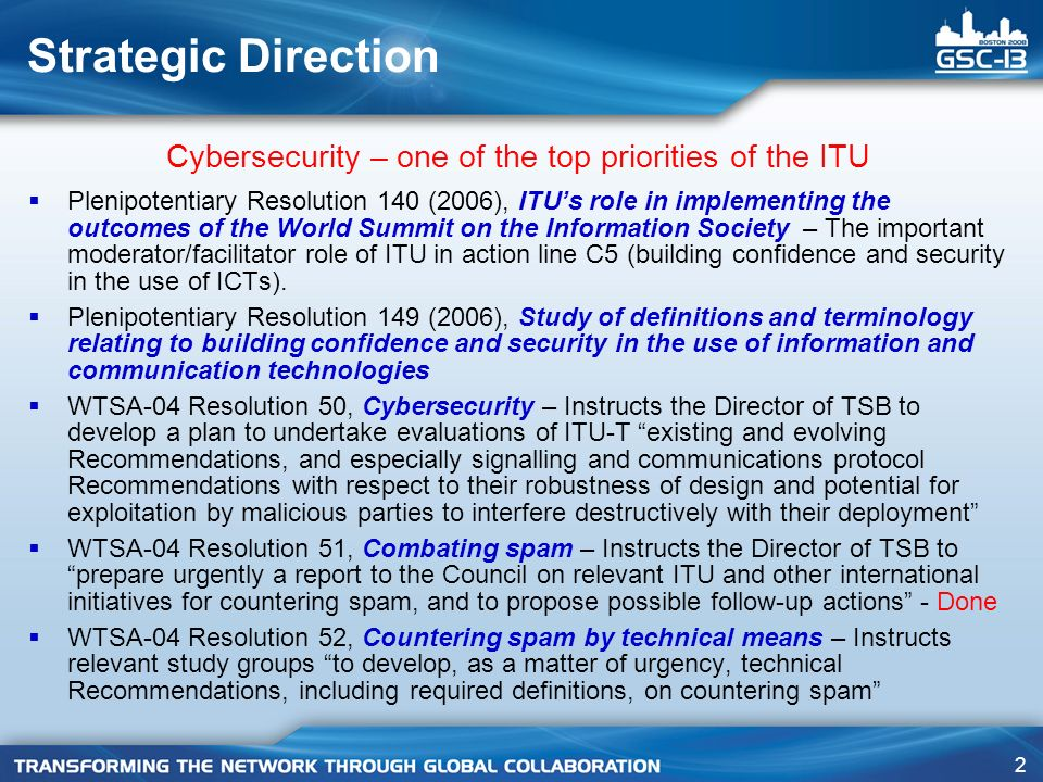 Cybersecurity – one of the top priorities of the ITU