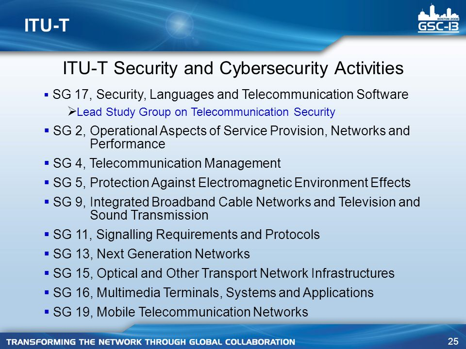 ITU-T Security and Cybersecurity Activities