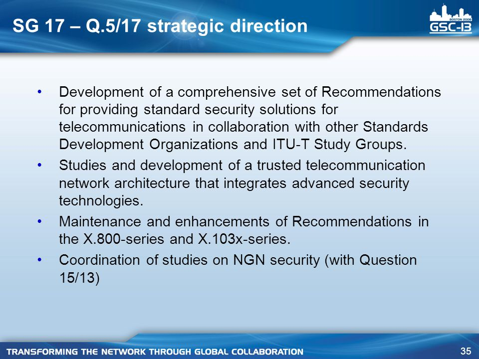 SG 17 – Q.5/17 strategic direction