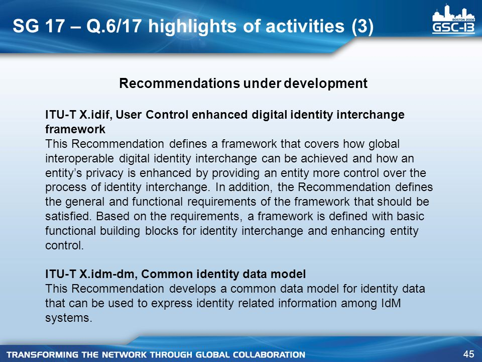 SG 17 – Q.6/17 highlights of activities (3)