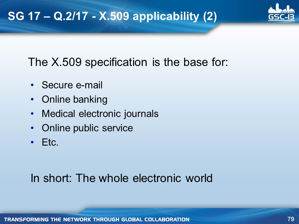 SG 17 – Q.2/17 - X.509 applicability (2)