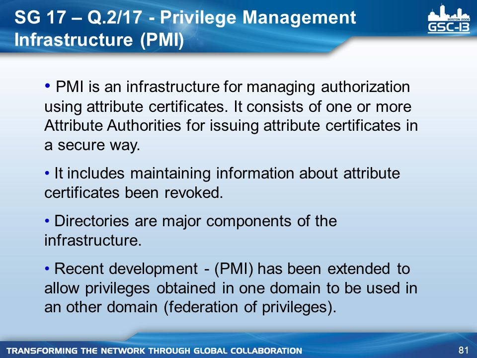 SG 17 – Q.2/17 - Privilege Management Infrastructure (PMI)