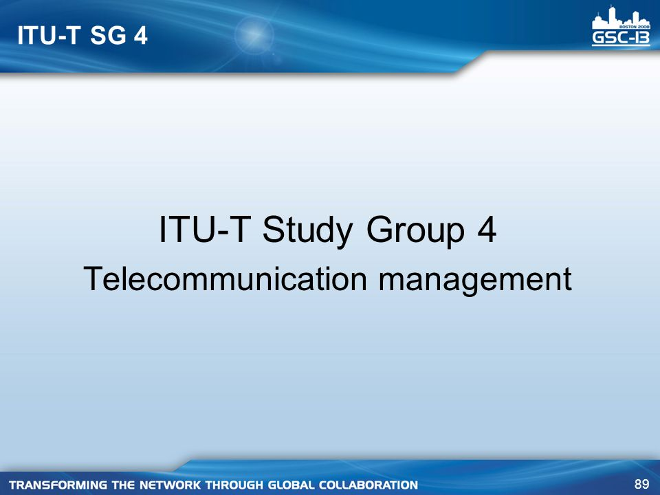 Telecommunication management