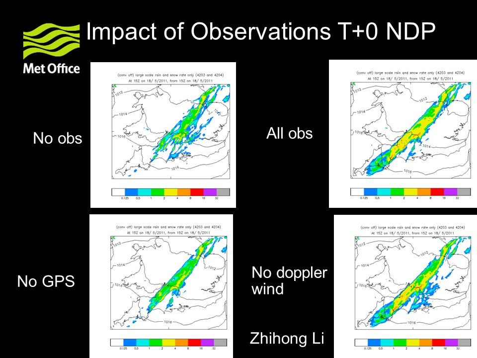 Impact of Observations T+0 NDP