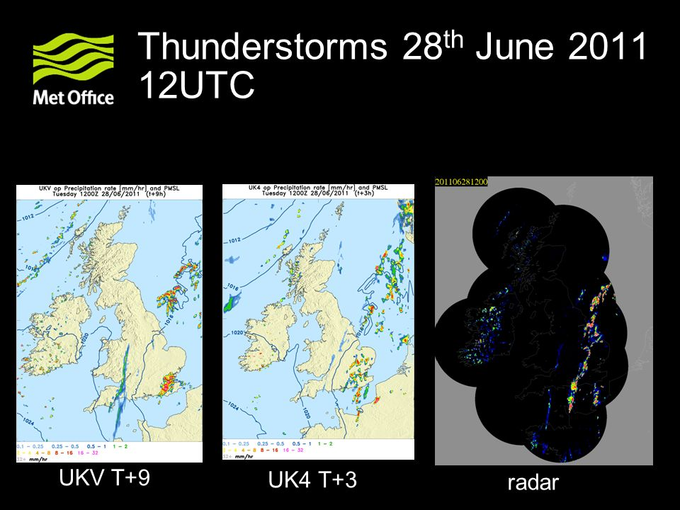 Thunderstorms 28th June 2011 12UTC