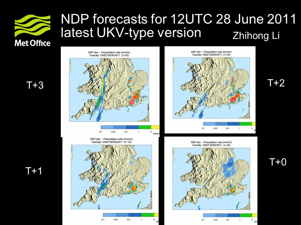 NDP forecasts for 12UTC 28 June 2011 latest UKV-type version