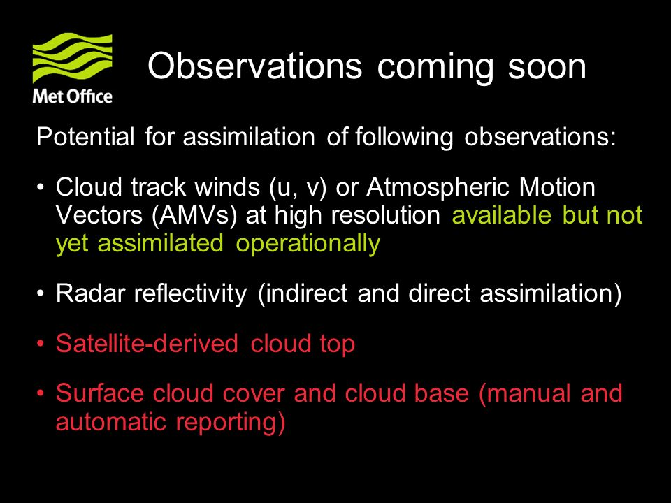 Observations coming soon
