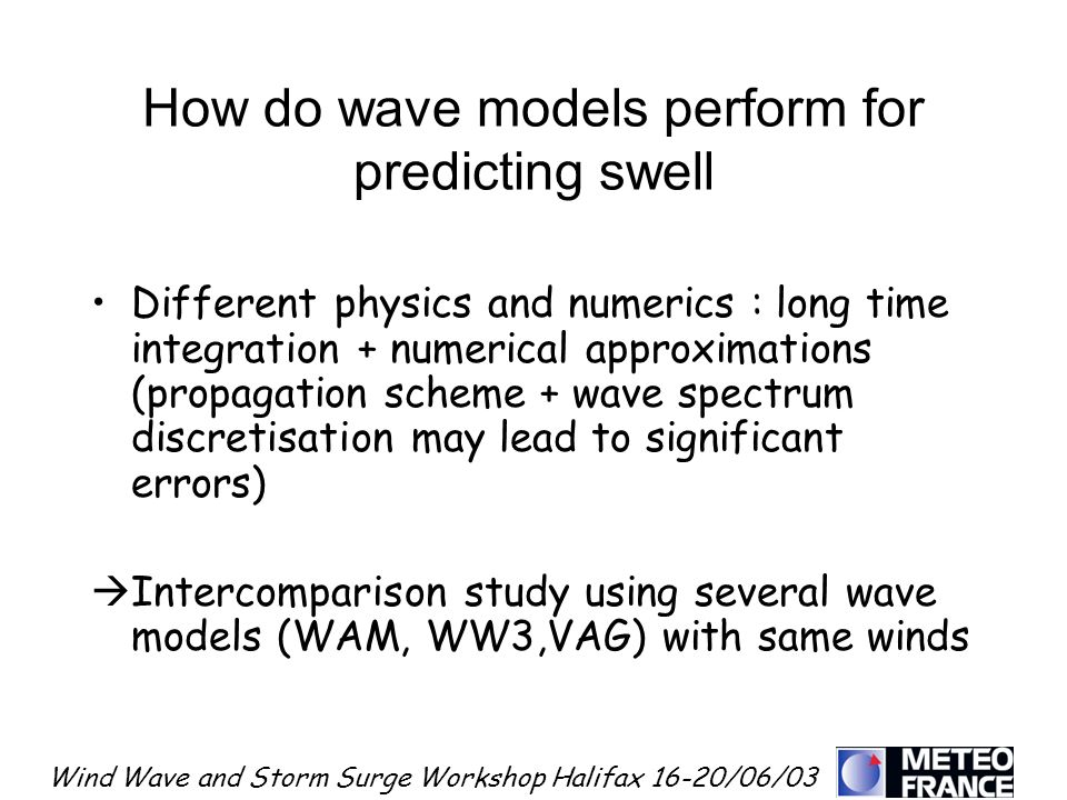 How do wave models perform for predicting swell