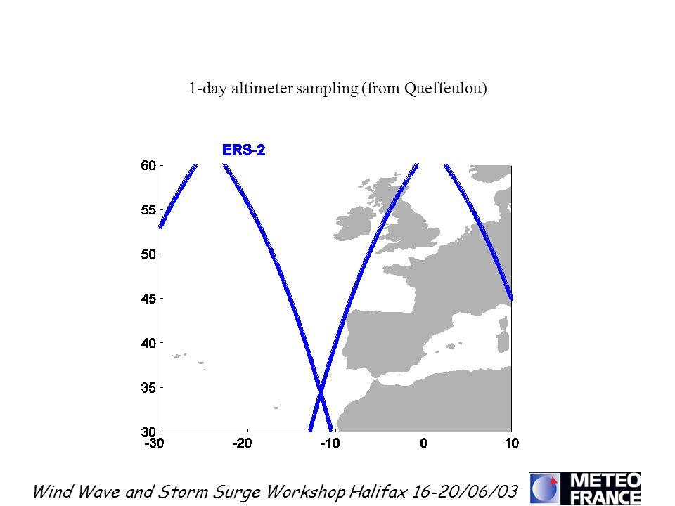 1-day altimeter sampling (from Queffeulou)
