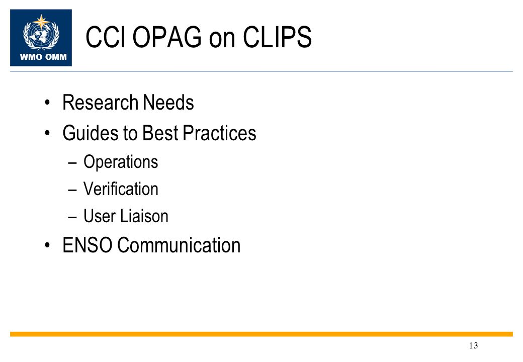 CCl OPAG on CLIPS Research Needs Guides to Best Practices
