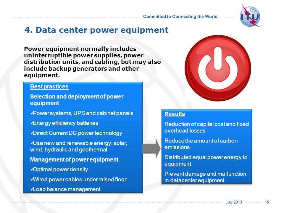 4. Data center power equipment