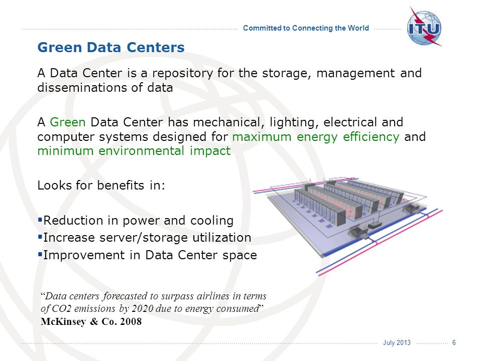 Green Data Centers A Data Center is a repository for the storage, management and disseminations of data.