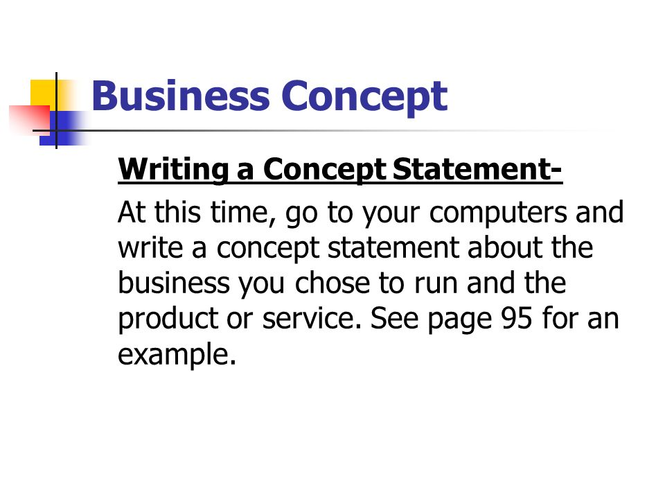 Example of a Product Concept Statement