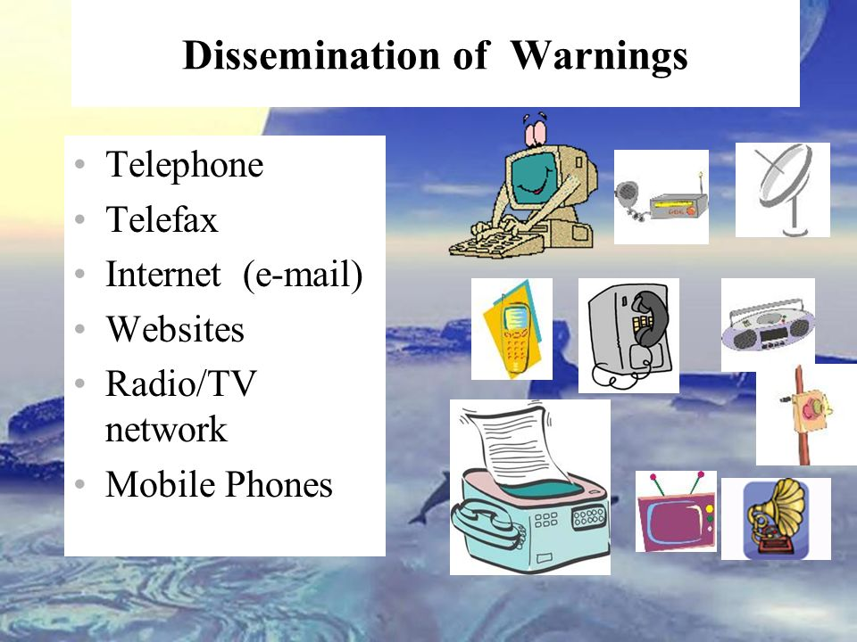 Dissemination of Warnings