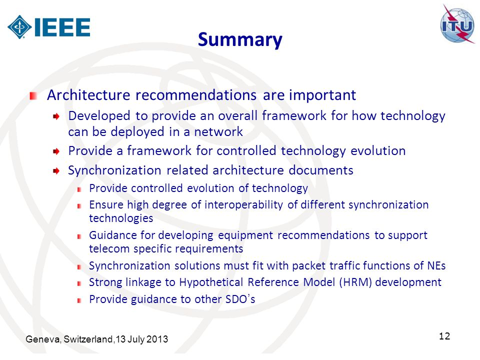Summary Architecture recommendations are important