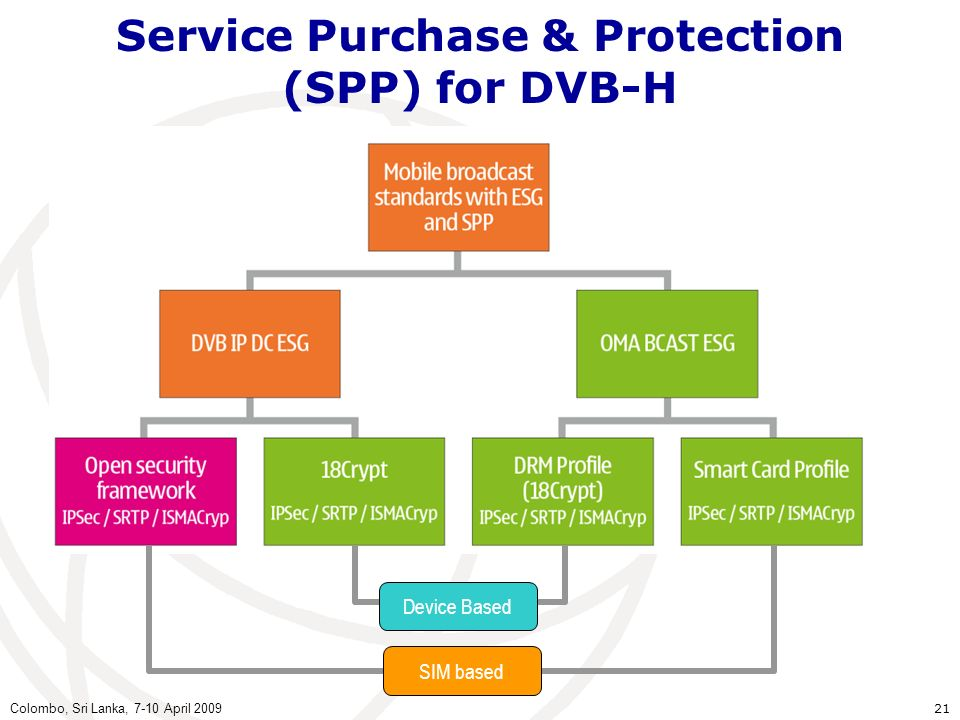 Service Purchase & Protection (SPP) for DVB-H