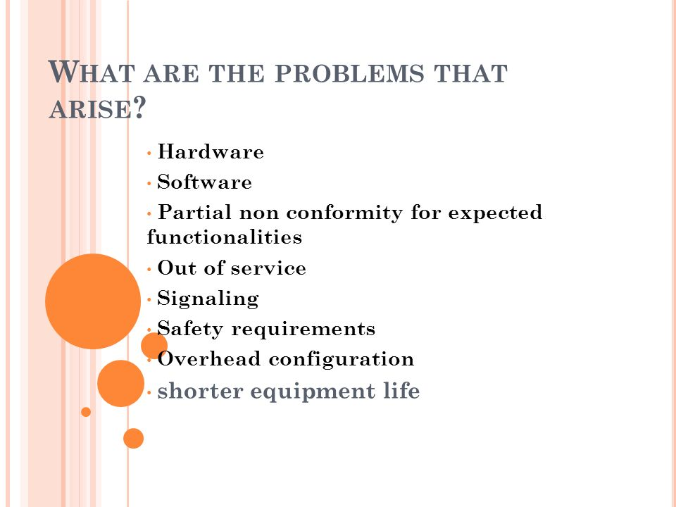 What are the problems that arise