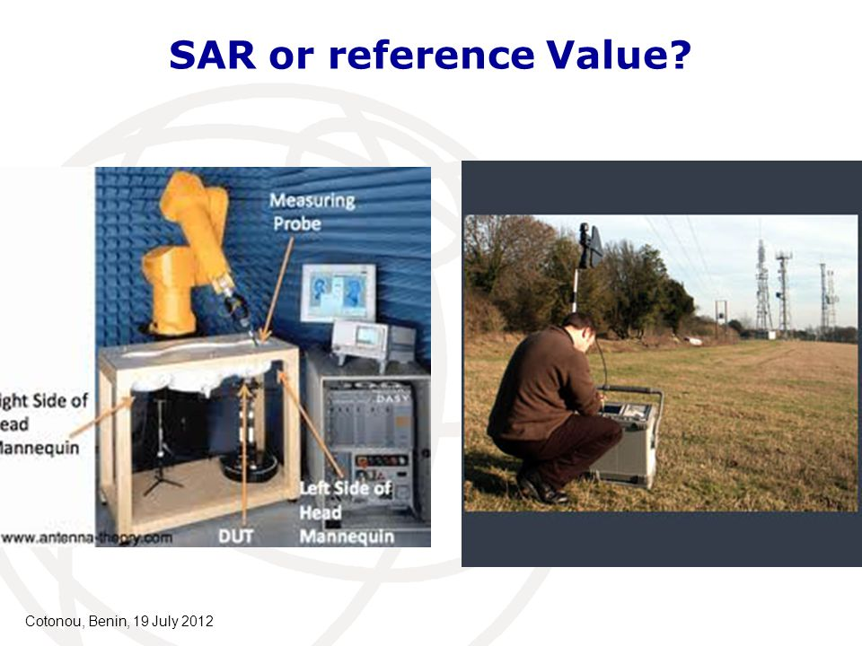 SAR or reference Value Cotonou, Benin, 19 July 2012