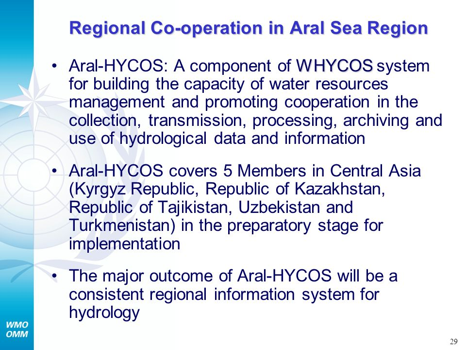 Regional Co-operation in Aral Sea Region