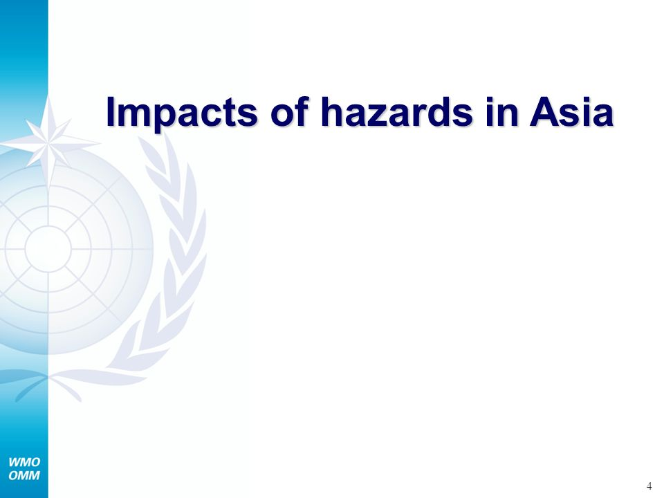 Impacts of hazards in Asia