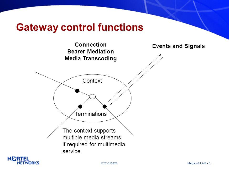 Gateway control functions