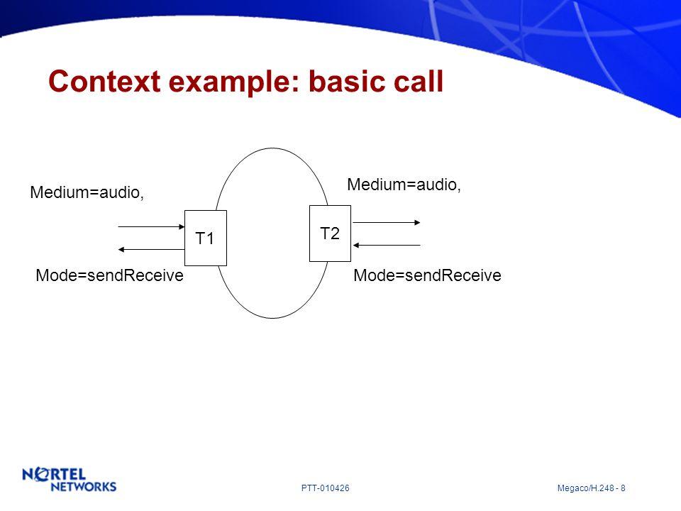 Context example: basic call