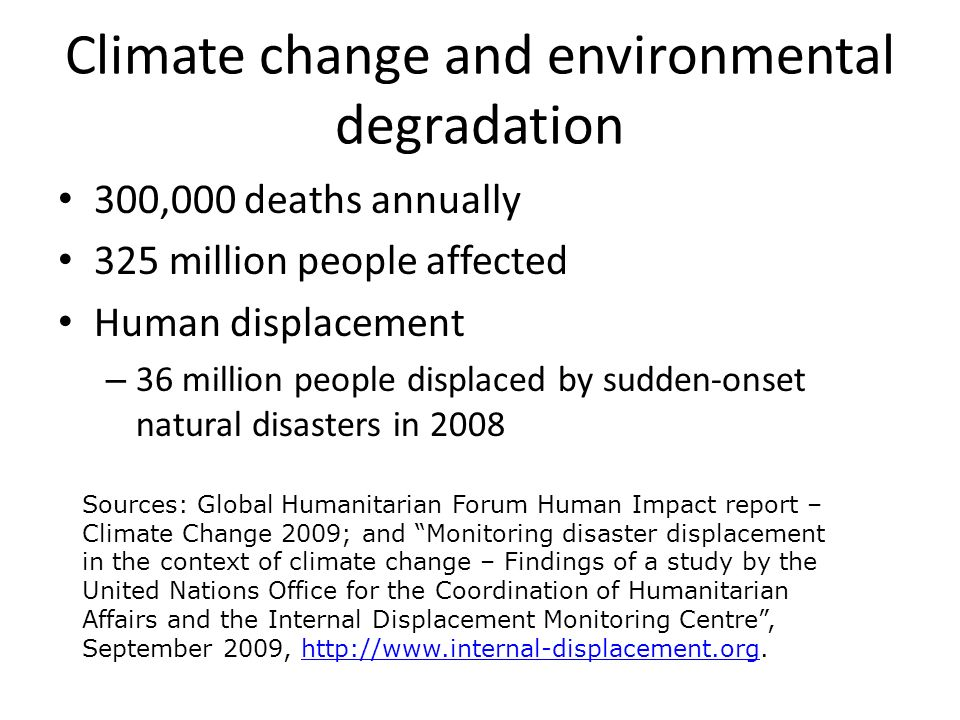 Climate change and environmental degradation