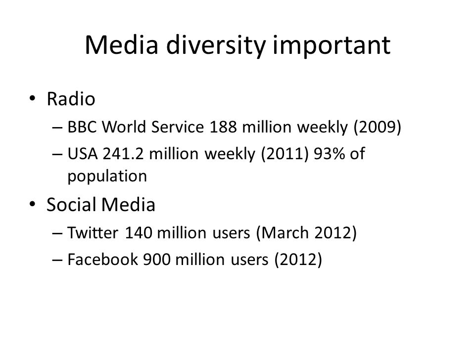 Media diversity important