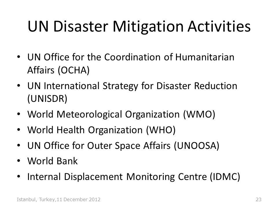 UN Disaster Mitigation Activities