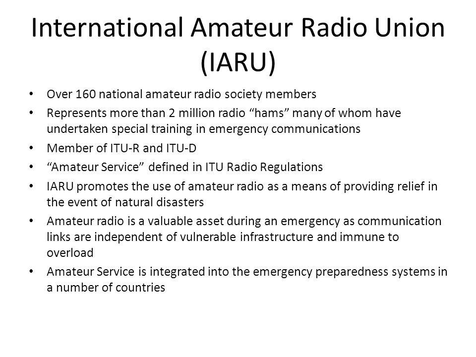 International Amateur Radio Union (IARU)