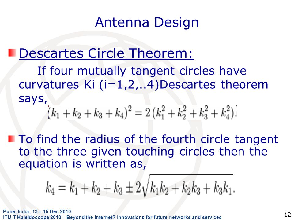 Descartes Circle Theorem: