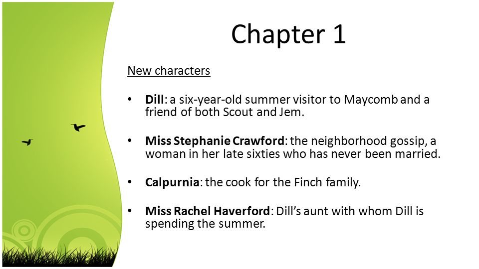 a summary of chapter 1 in the novel to kill a mockingbird by harper lee Chapter 1 1)in what state does the novel take place  to kill a mockingbird harper lee questions chapters 1-4  to kill a mockingbird harper lee.