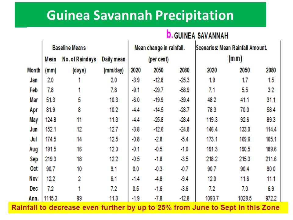 Guinea Savannah Precipitation