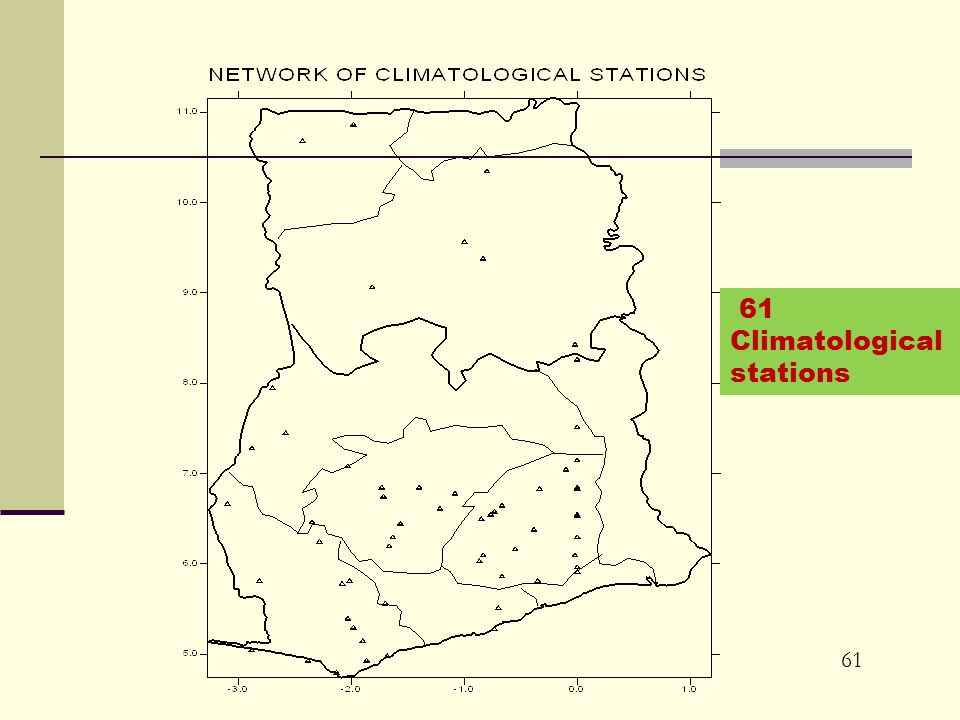 61 Climatological stations