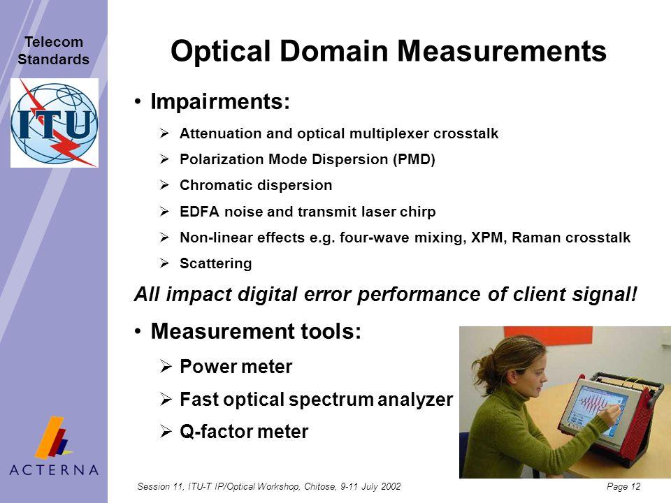 Optical Domain Measurements