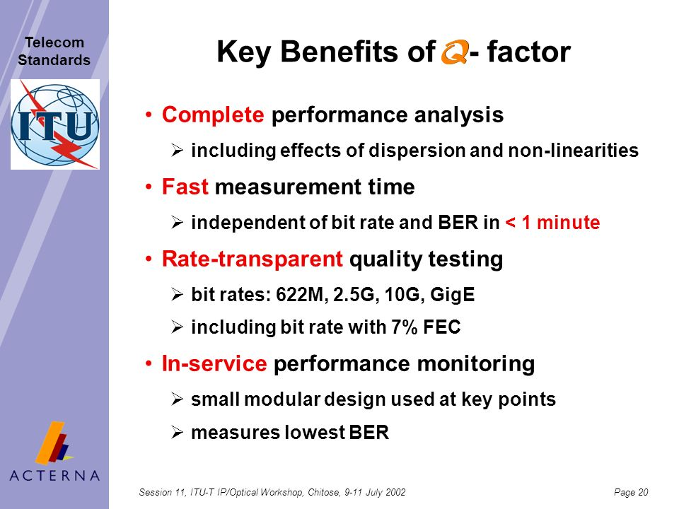 Key Benefits of - factor
