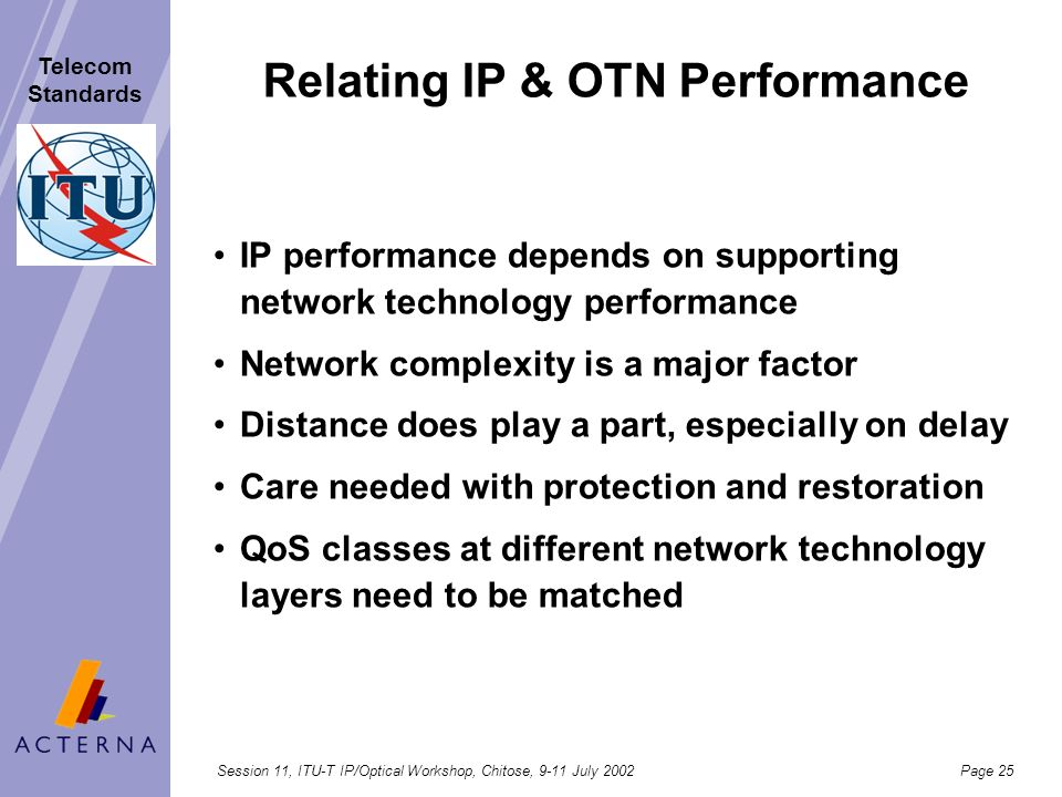 Relating IP & OTN Performance
