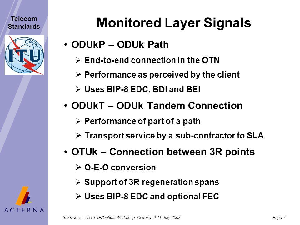 Monitored Layer Signals
