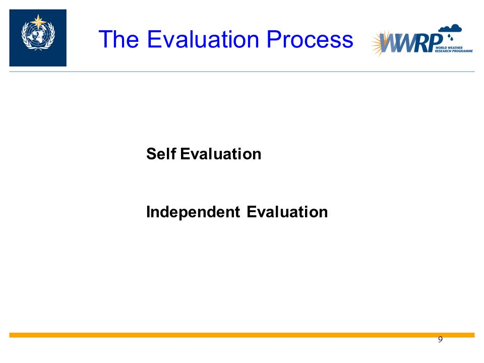 The Evaluation Process